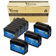 Replacement 932XL HP 933XL Ink Cartridge (4Black 2Cyan 2Magenta 2Yellow, 10 Pack)