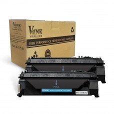 HP CE505A Compatible Toner Cartridge - 2 Pack