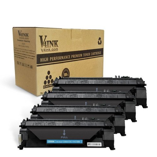 HP CE505A Compatible Toner Cartridge - 4 Pack...