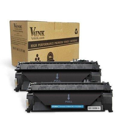 HP 80A CF280A Compatible Toner Cartridge - 2 Packs