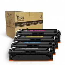 HP CF410A/CF411A/CF412A/CF413A Compatible Toner Cartridge - 4 Pack