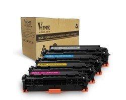 Canon  118 Compatible Toner Cartridge Set 4 Pack (Black+Cyan