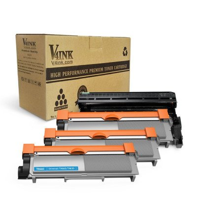 Brother DR630 Compatible Drum Unit + TN660 TN630 Compatible - 4 Packs