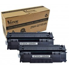 HP Q7553A 53A Compatible Toner Cartridge - 2 Pack