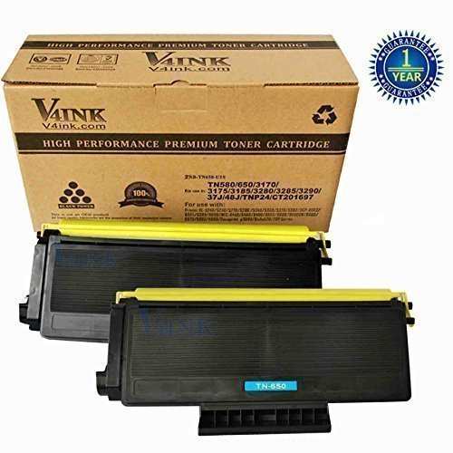 Brother TN650 Compatible Toner Cartridge - 2 pack...
