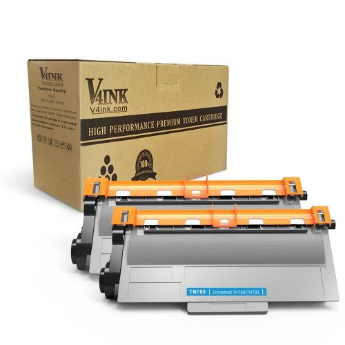 Brother TN720/TN750 Compatible Toner Cartridge - 2 Pack...