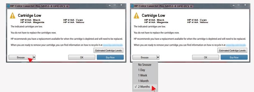 "printer error ""cartridge low"""