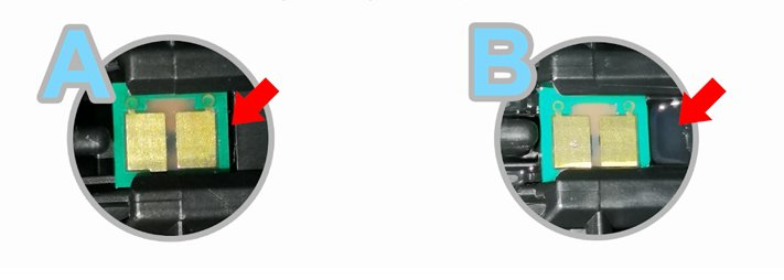 Structure A and Structure B of OEM toner